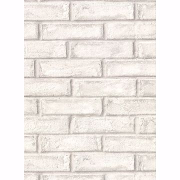 Picture of Appleton Off-White Faux Weathered Brick Wallpaper