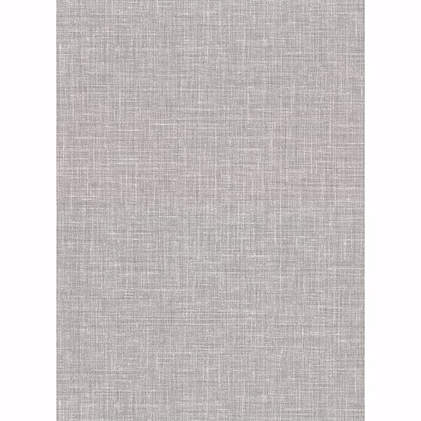 Picture of Upton Grey Faux Linen Wallpaper