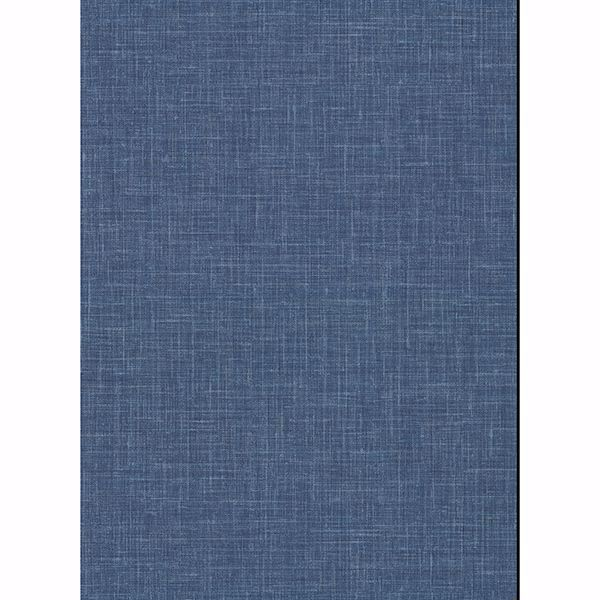Picture of Upton Indigo Faux Linen Wallpaper