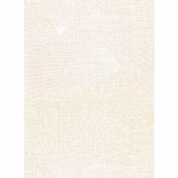 Picture of Berkeley Cream Geometric Faux Linen Wallpaper
