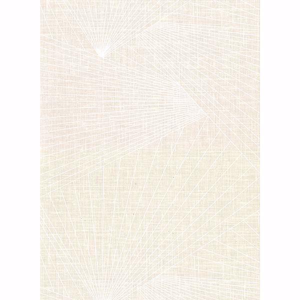 Picture of Berkeley Cream Geometric Faux Linen Wallpaper
