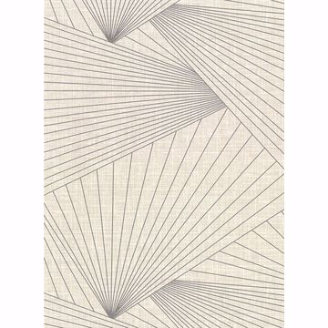 Picture of Berkeley Eggshell Geometric Faux Linen Wallpaper