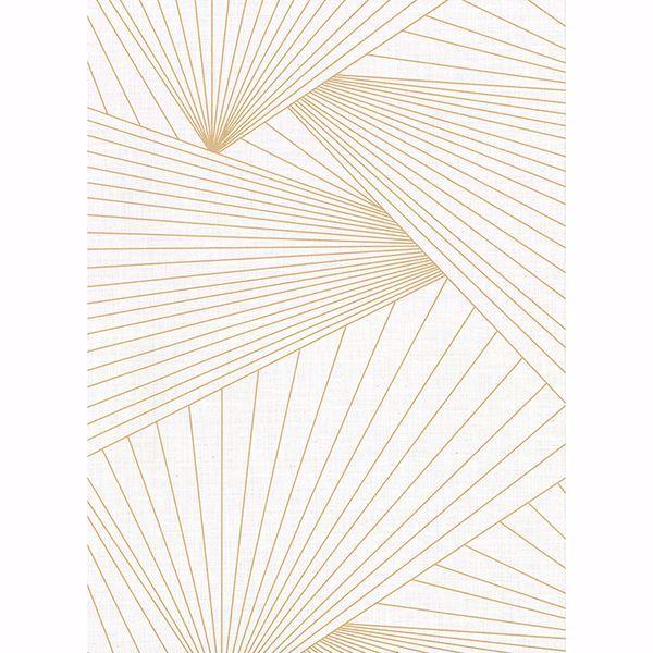 Picture of Berkeley Off-White Geometric Faux Linen Wallpaper