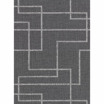Picture of Clarendon Charcoal Geometric Faux Grasscloth Wallpaper