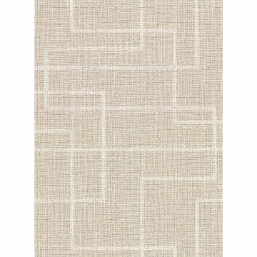 Picture of Clarendon Wheat Geometric Faux Grasscloth Wallpaper