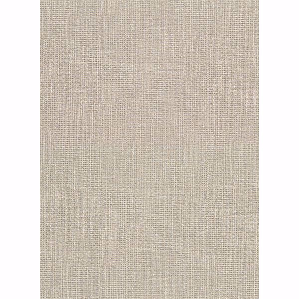 Picture of Claremont Brown Faux Grasscloth Wallpaper