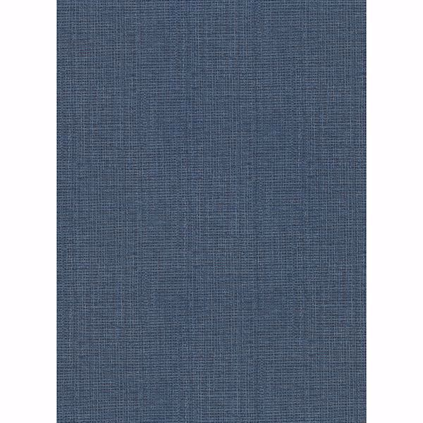 Picture of Claremont Indigo Faux Grasscloth Wallpaper