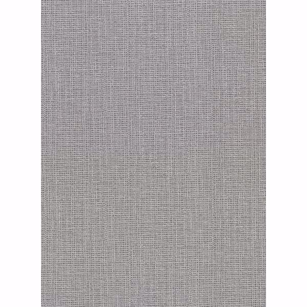 Picture of Claremont Silver Faux Grasscloth Wallpaper