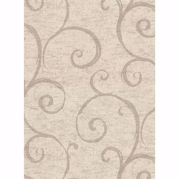 Picture of Newbury Taupe Geometric Faux Plaster Wallpaper