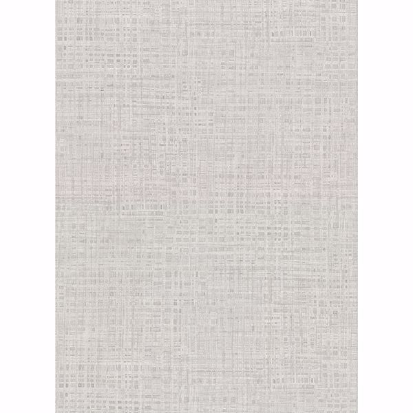Picture of Montgomery Light Grey Faux Grasscloth Wallpaper