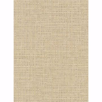 Picture of Montgomery Khaki Faux Grasscloth Wallpaper