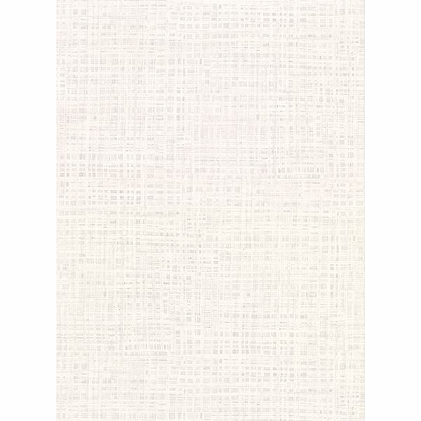 Picture of Montgomery White Faux Grasscloth Wallpaper