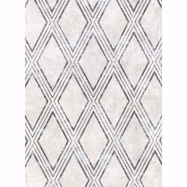 Picture of Dartmouth Light Grey Faux Plaster Geometric Wallpaper