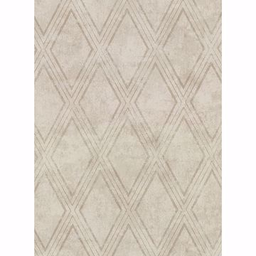 Picture of Dartmouth Taupe Faux Plaster Geometric Wallpaper