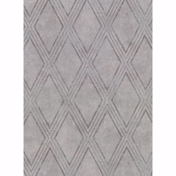 Picture of Dartmouth Grey Faux Plaster Geometric Wallpaper