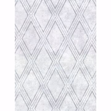 Picture of Dartmouth Sky Blue Faux Plaster Geometric Wallpaper