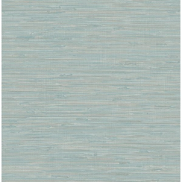 Picture of Tibetan Grasscloth Teal Peel and Stick Wallpaper