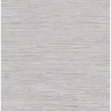 Picture of Tibetan Grasscloth Silver Peel and Stick Wallpaper
