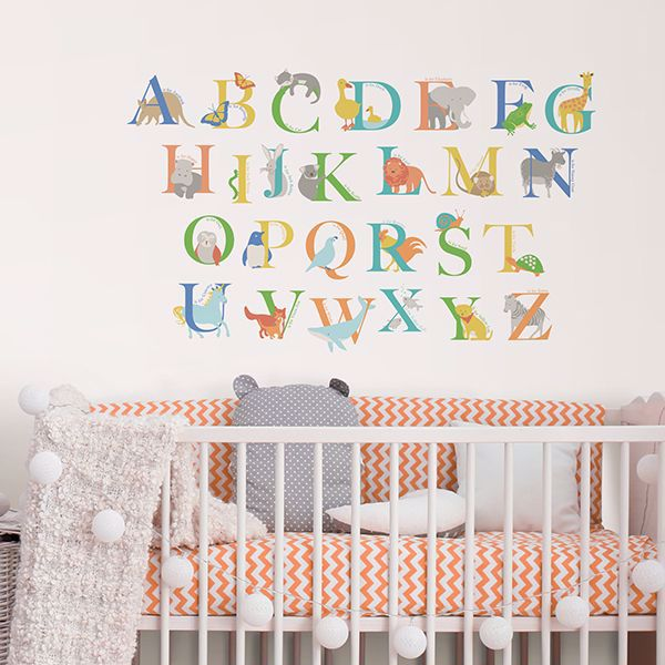 Picture of Alphabet Animals Wall Art Kit