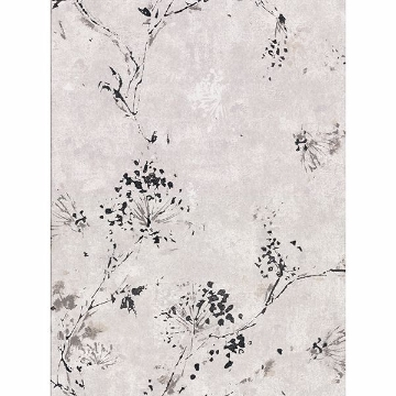 Picture of Misty Grey Distressed Dandelion Wallpaper