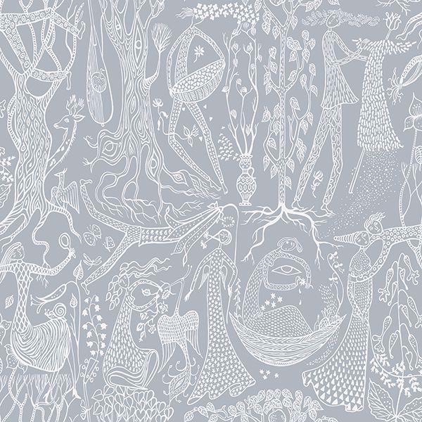 Picture of Poem DAmour Slate Folk Wallpaper