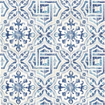 Picture of Sonoma Navy Spanish Tile Wallpaper