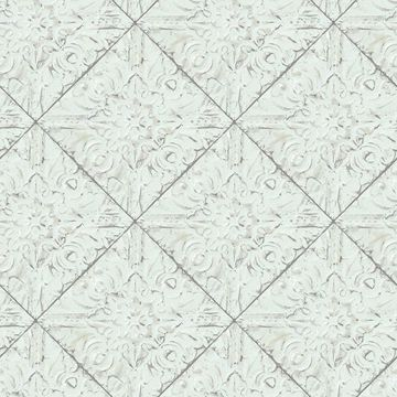 Picture of Brandi Light Blue Tin Tile Wallpaper