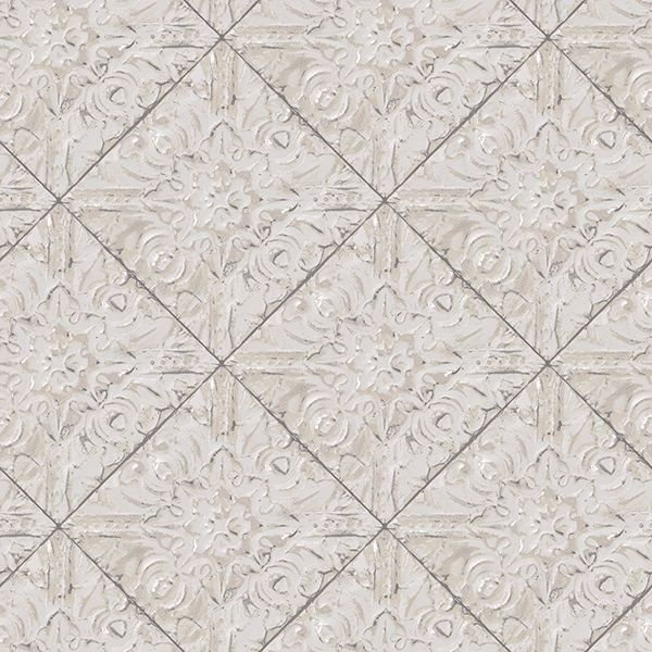 Picture of Brandi Grey Tin Tile Wallpaper