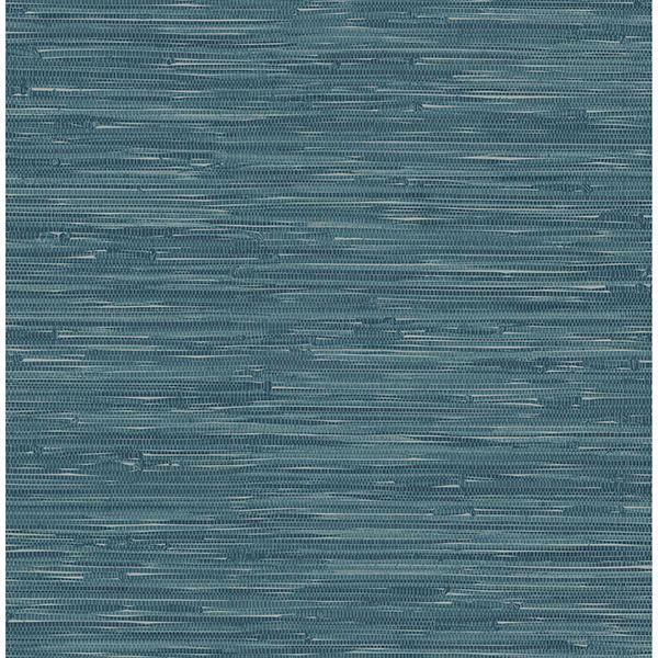 Picture of Natalie Teal Weave Texture Wallpaper