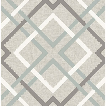 Picture of Saltire Taupe Geometric Wallpaper