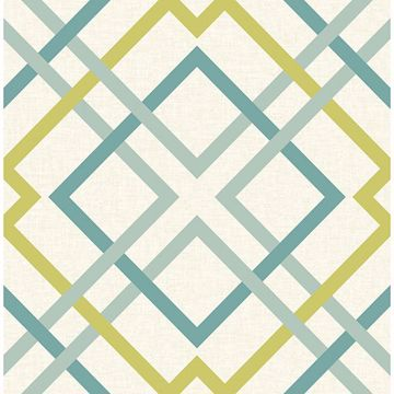Picture of Saltire Green Geometric Wallpaper