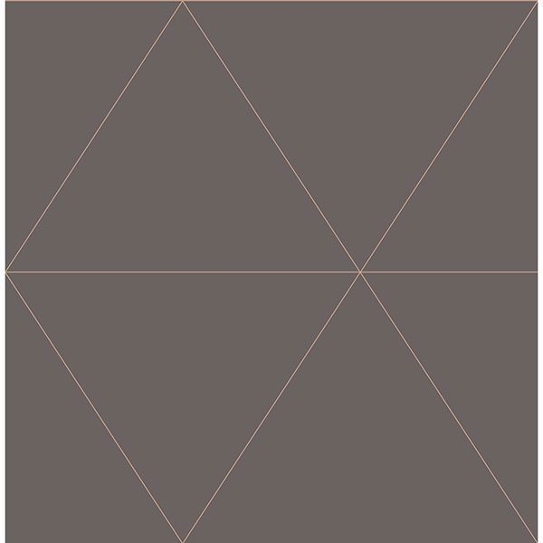 Picture of Twilight Taupe Modern Geometric Wallpaper