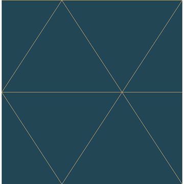 Picture of Twilight Teal Modern Geometric Wallpaper