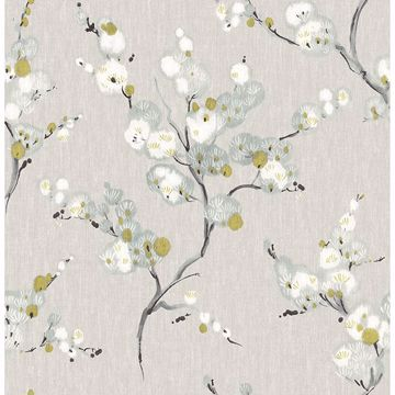 Picture of Bliss Blue Floral Wallpaper