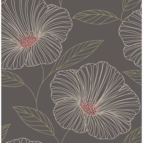 Picture of Mythic Brown Floral Wallpaper