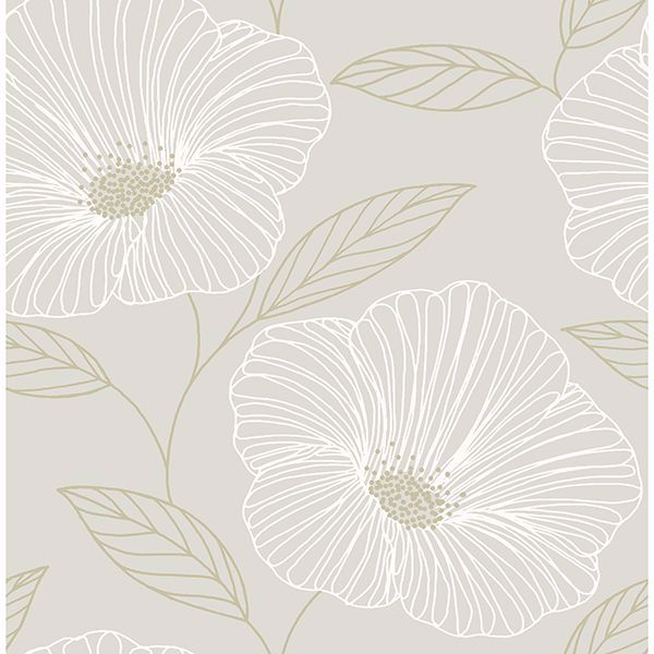 Picture of Mythic Light Grey Floral Wallpaper