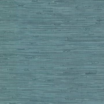 Picture of Fiber Teal Faux Grasscloth Wallpaper