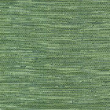 Picture of Fiber Green Faux Grasscloth Wallpaper