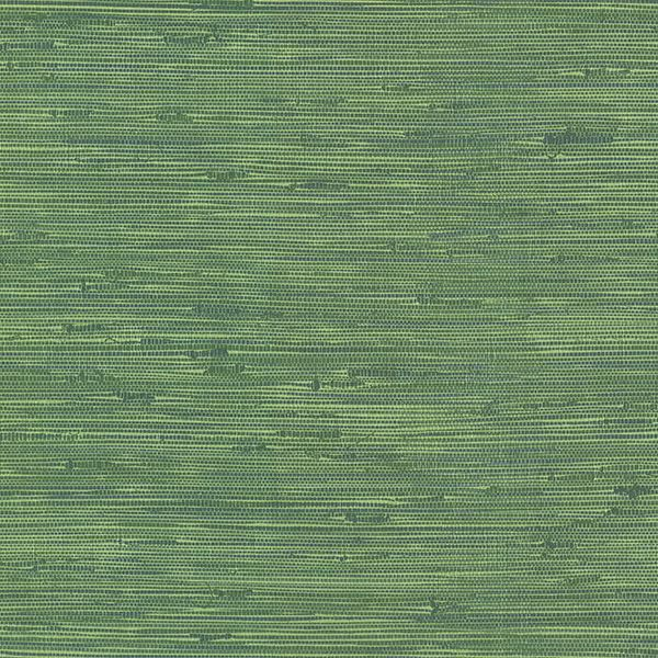 Picture of Fiber Green Faux Grasscloth Wallpaper
