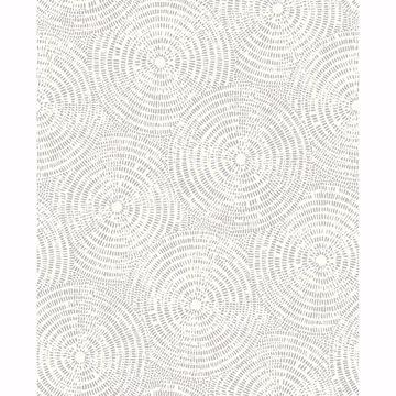 Picture of Vatten Platinum Geometric Wallpaper