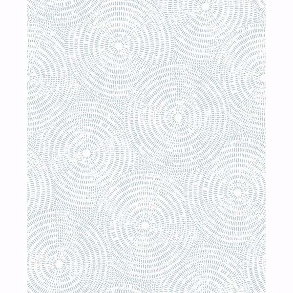 Picture of Vatten Light Blue Geometric Wallpaper