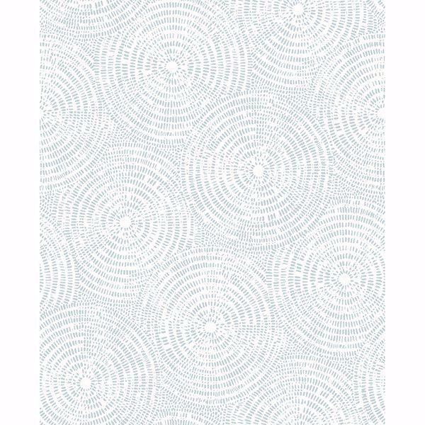 Picture of Vatten Light Blue Geometric Wallpaper