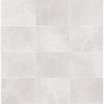 Picture of Cecelia Light Grey Faux Tile Wallpaper