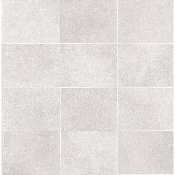 Picture of Cecelia Light Grey Faux Tile Wallpaper
