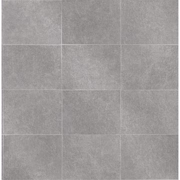 Picture of Cecelia Dark Grey Faux Tile Wallpaper