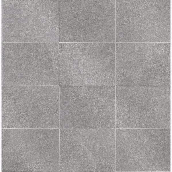 Picture of Cecelia Dark Grey Faux Tile Wallpaper
