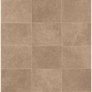 Picture of Cecelia Bronze Faux Tile Wallpaper