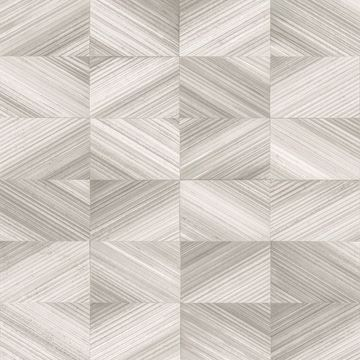 Picture of Stratum Taupe Geometric Faux Wood Wallpaper