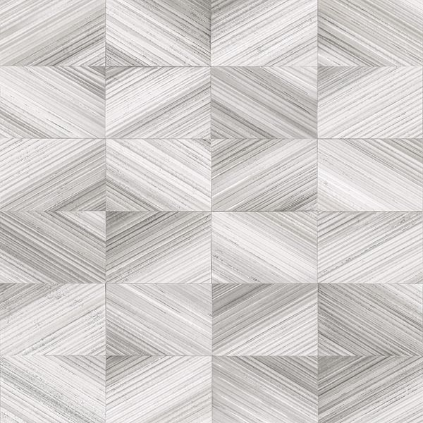 Picture of Stratum Grey Geometric Faux Wood Wallpaper