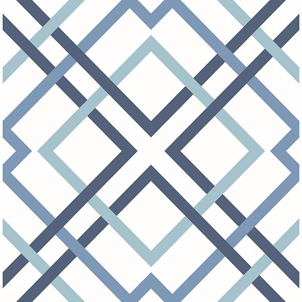 Picture of Saltire Blue Geometric Wallpaper